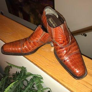 Cesare Paciotti Men's Crocodile Dress Shoes. US 10